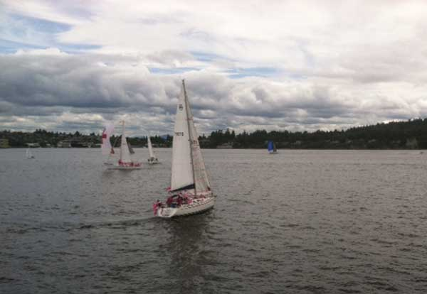 Puget Sound sailing photo