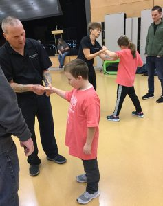Martial Arts session for blind & visually impaired students